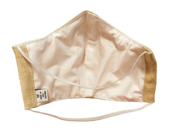 Washable Linen Face Mask - Inside View